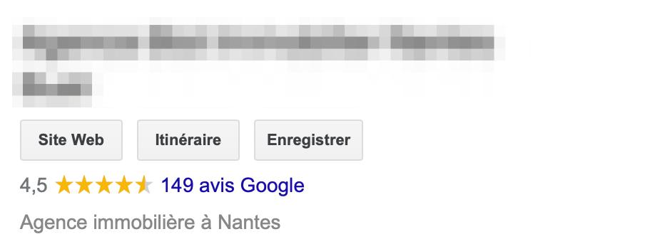 Bon exemple e-reputation immobilier Nantes