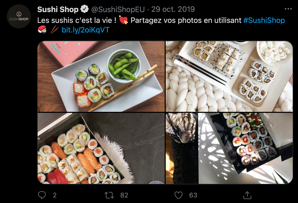 Exemple Twitter Sushi Shop