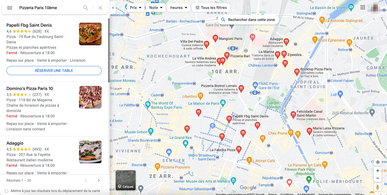 Recherche-locale-Pizzeria-Paris-10eme_Guest-Suite
