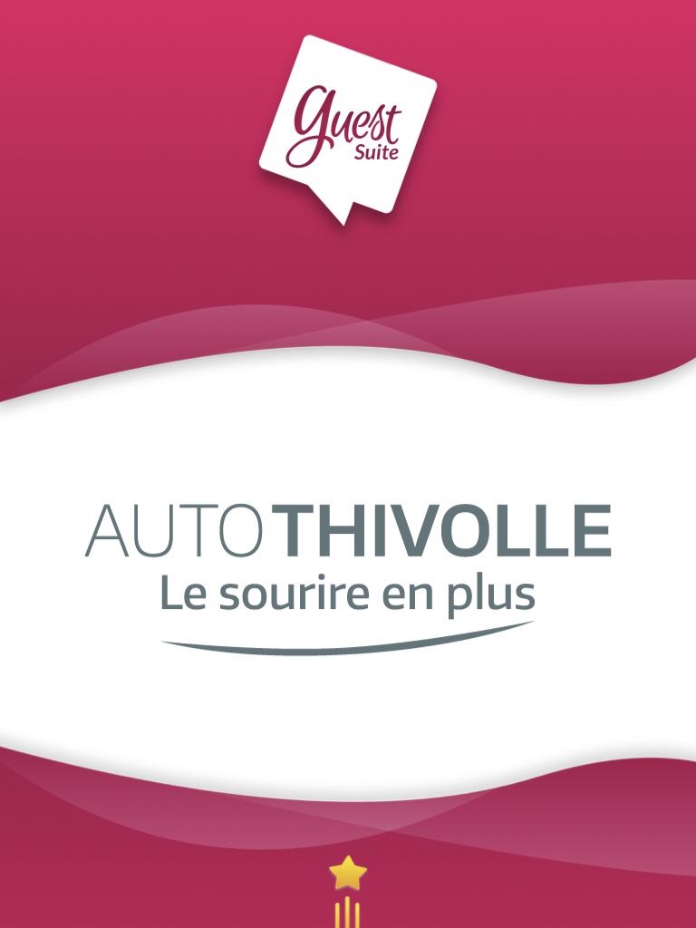 Couverture rose mettant en avant les logos de Guest Suite et du Groupe Thivolle